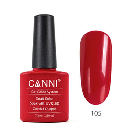 105 - CANNI UV Nail Gel Varnish Colour Bright Red