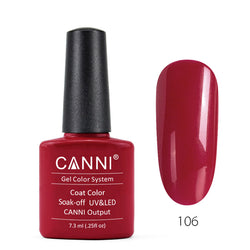 106 - CANNI UV Nail Gel Varnish Colour Agate Red