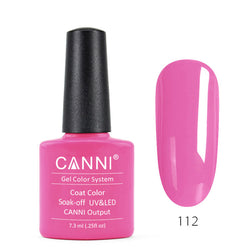 112 – CANNI UV Nail Gel Varnish Colour Neon Pink