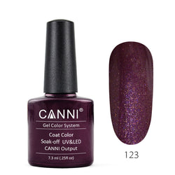 123 - CANNI UV Nail Gel Varnish Colour Mysterious Red