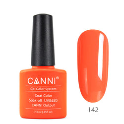 142 - CANNI UV Nail Gel Varnish Colour Fluorescent Orange