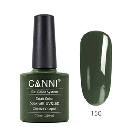 150 - CANNI UV Nail Gel Varnish Colour Blackish Green