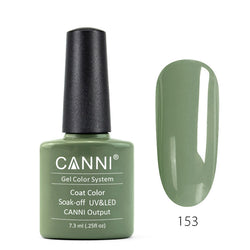 153 - CANNI UV Nail Gel Varnish Colour Light Olive