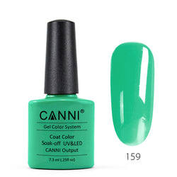 159 - CANNI UV Nail Gel Varnish Colour Bright Mint