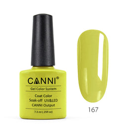 167 - CANNI UV Nail Gel Varnish Colour Mustard Yellow