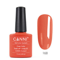 168 - CANNI UV Nail Gel Varnish Colour Salmon Pink