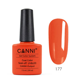 177 - CANNI UV Nail Gel Varnish Colour Neon Orange