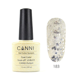 183 - CANNI UV Nail Gel Varnish Colour Blasting Glitter