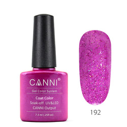 192 - CANNI UV Nail Gel Varnish Colour Lilac-Sparkles