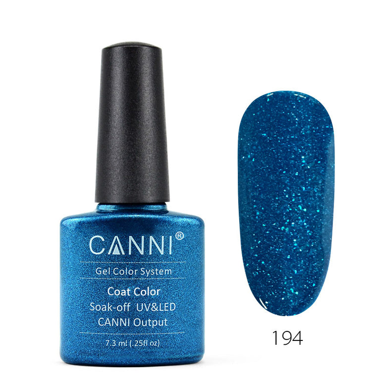 194 - CANNI UV Nail Gel Varnish Colour Blue Pearl