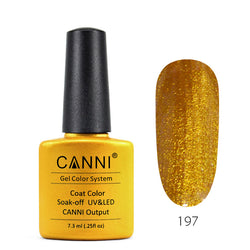 197 - CANNI UV Nail Gel Varnish Colour Glittering Gold