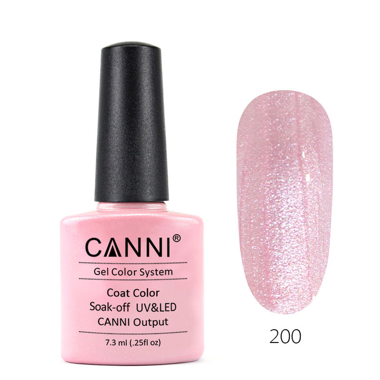 200 - CANNI UV Nail Gel Varnish Colour Pink Pearl