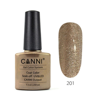 201 - CANNI UV Nail Gel Varnish Colour Mocha Pearl