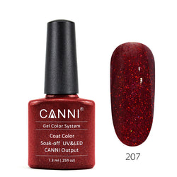 207 - CANNI UV Nail Gel Varnish Colour Obsessed Red