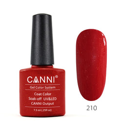 210 – CANNI UV Nail Gel Varnish Colour Blood Red