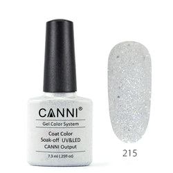 215 – CANNI UV Nail Gel Varnish Colour Sparkle Silver