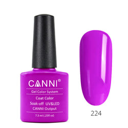 224 – CANNI UV Nail Gel Varnish Colour Fluorescent Red Rose