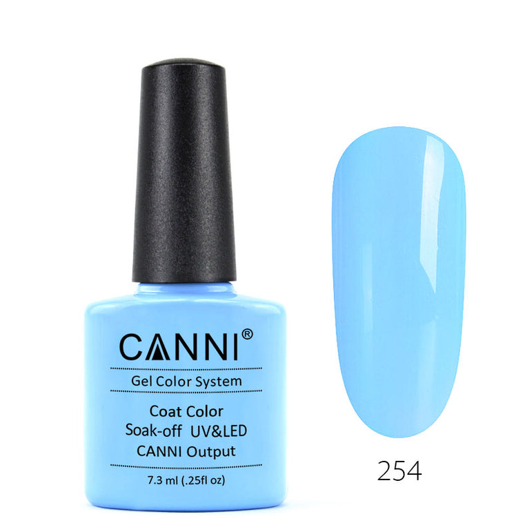 254 – CANNI UV Nail Gel Varnish Colour Water Blue