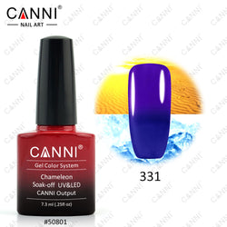 CANNI Chameleon Nail Gel Polish Temperature Thermal Colour Change Gel Nail Varnish Soak Off Long Lasting Gel