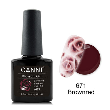 CANNI Rose / Flowers Soak Off LED Blossom Gel Polish Magic Blooming Gel 7.3ml