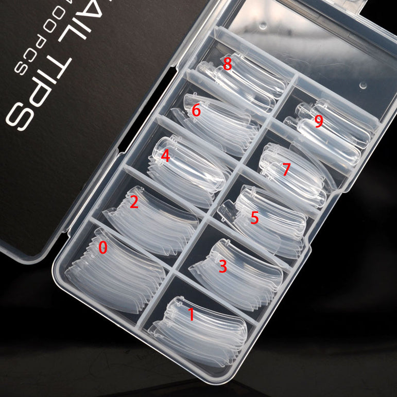 100 pcs Acrylic Nail Tips Moulds For Hard Jelly UV Poly Gel Gum