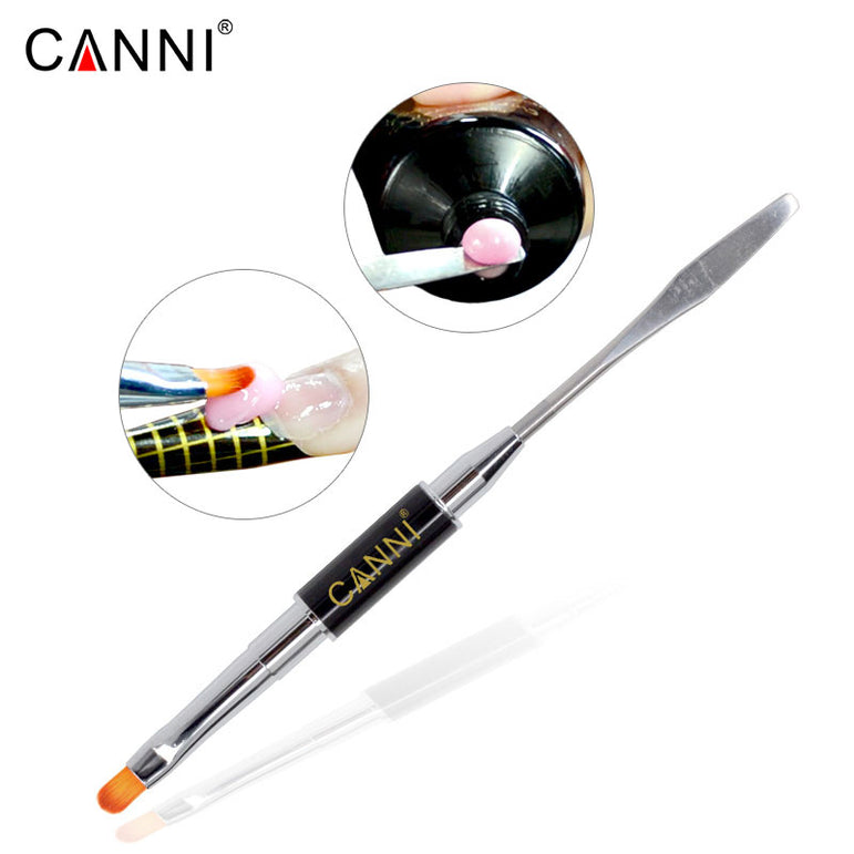 CANNI 2in1 Nail Art Design 2 Side PolyGel Brush Slice Pen For Nail Extension Acrylic Nails