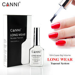 CANNI 18ml Long Wear Tempered No wipe Super Bright Top Coat