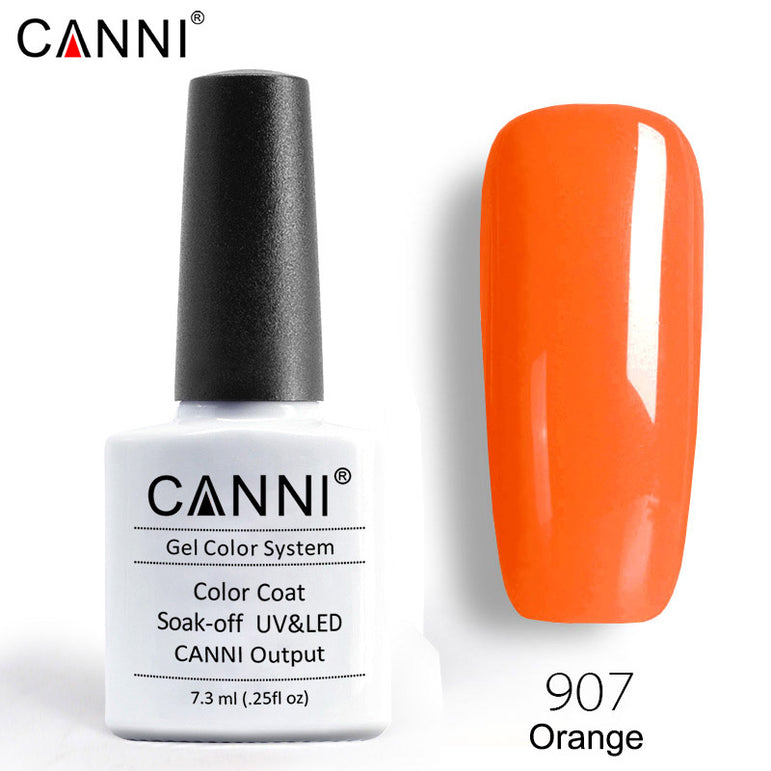 907 - CANNI Premium Nail Gel Polish Colour Orange