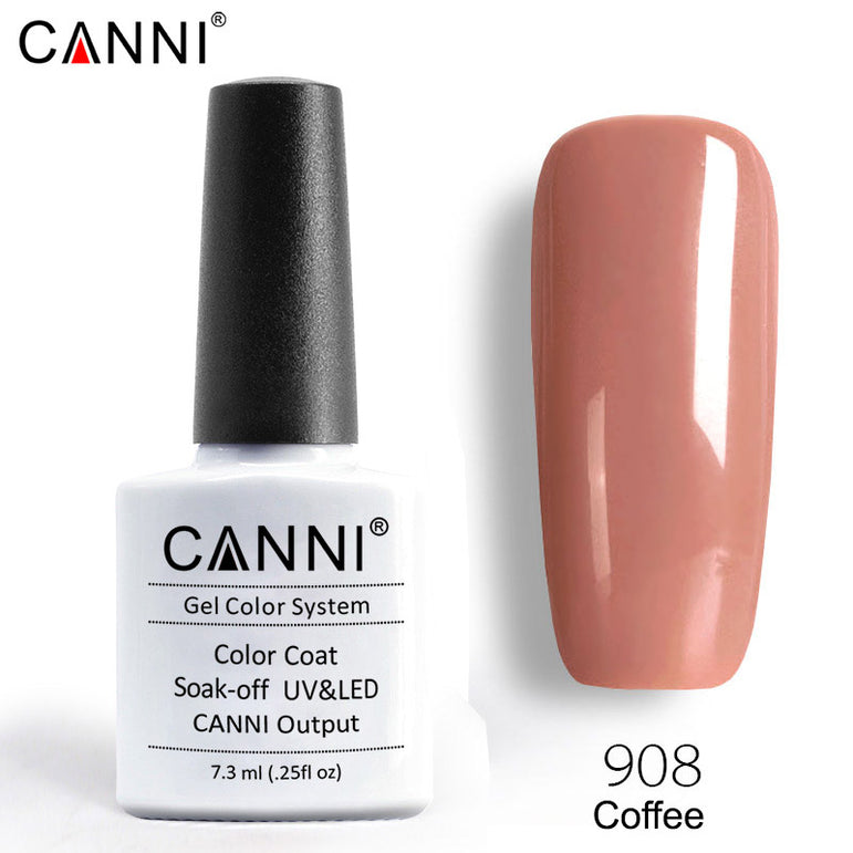 908 - CANNI Premium Nail Gel Polish Colour Coffee