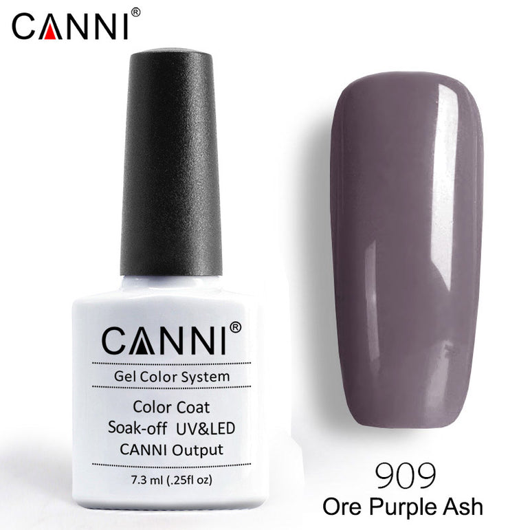 909 - CANNI Premium Nail Gel Polish Colour Ore Purple Ash