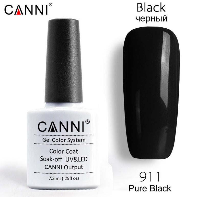 911 - CANNI Premium Nail Gel Polish Colour Pure Black