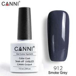 912 - CANNI Premium Nail Gel Polish Colour Smoke Grey