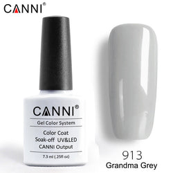 913 - CANNI Premium Nail Gel Polish Colour Grandma Grey
