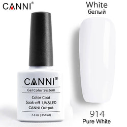 914 - CANNI Premium Nail Gel Polish Colour Pure White