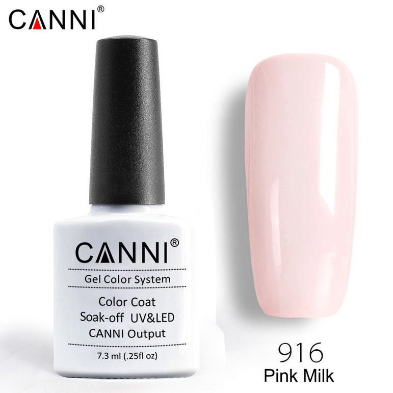 916 - CANNI Premium Nail Gel Polish Colour Milk Pink