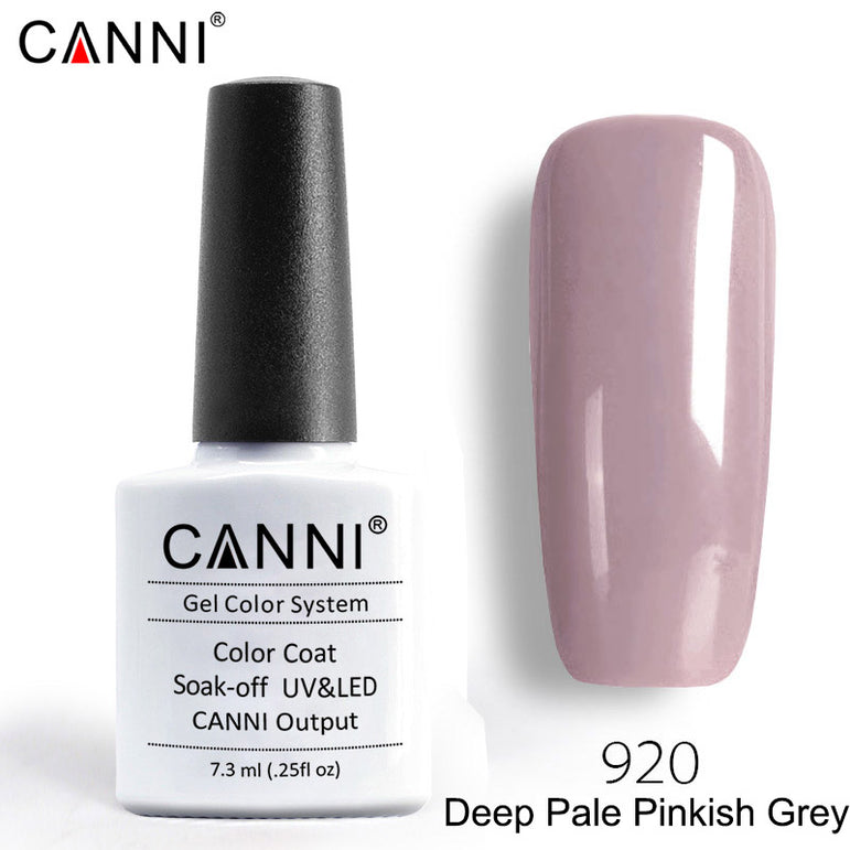 920- CANNI Premium Nail Gel Polish Colour Deep Pale Pinkish Grey