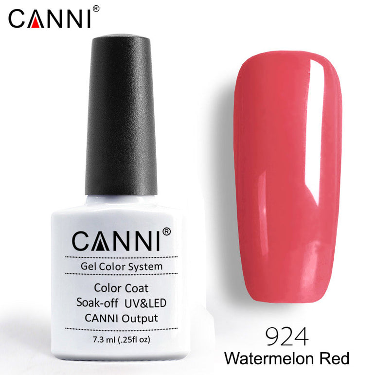 924 – CANNI Premium Nail Gel Polish Colour Watermelon Red
