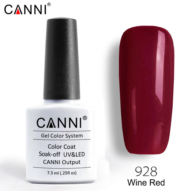 928 – CANNI Premium Nail Gel Polish Colour Wine Red