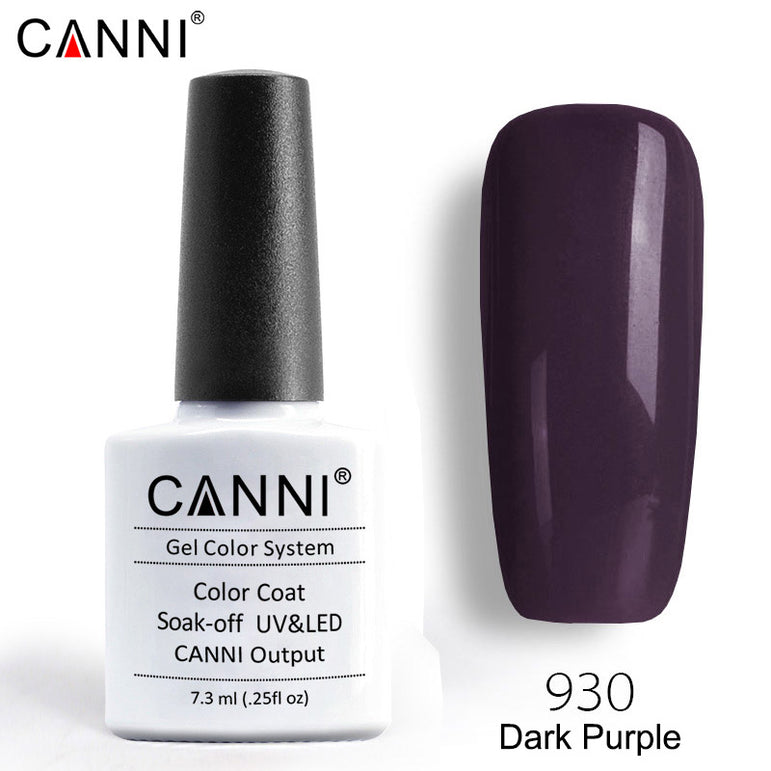 930 – CANNI Premium Nail Gel Polish Colour Dark Purple