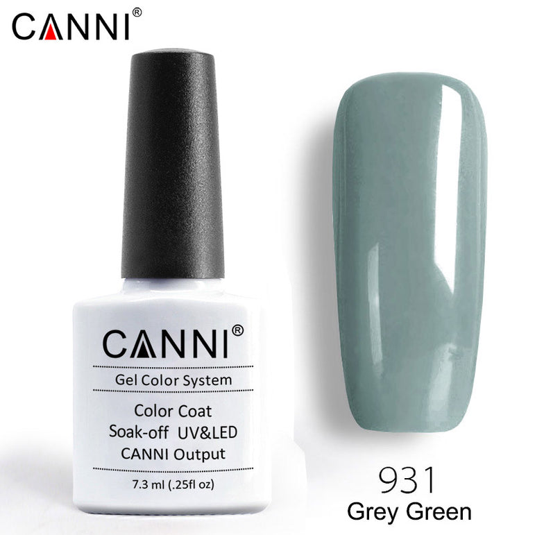 931 – CANNI Premium Nail Gel Polish Colour Grey Green