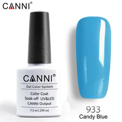 933 – CANNI Premium Nail Gel Polish Colour Candy Blue