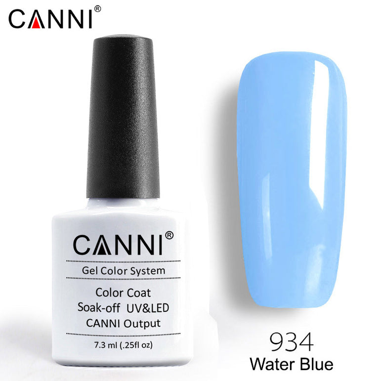 934 – CANNI Premium Nail Gel Polish Colour Water Blue