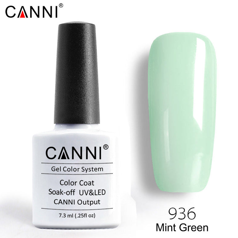 936 – CANNI Premium Nail Gel Polish Colour Mint Green