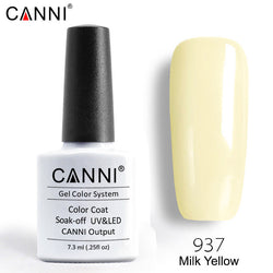 937 – CANNI Premium Nail Gel Polish Colour Milk Yellow