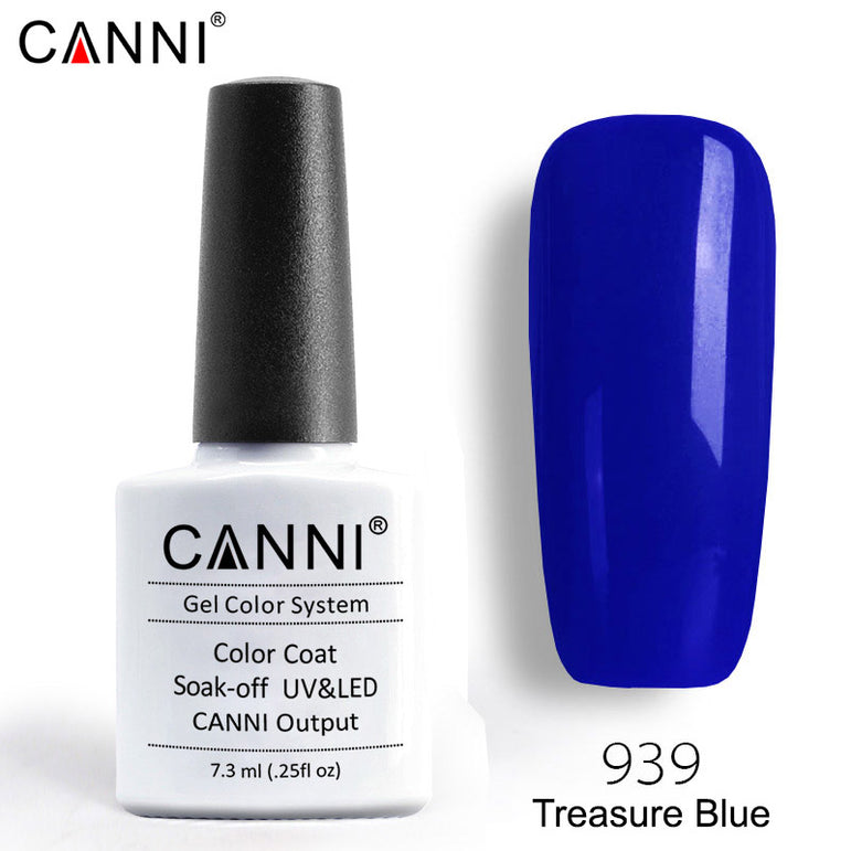 939 – CANNI Premium Nail Gel Polish Colour Treasure Blue