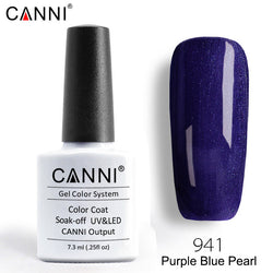 941 – CANNI Premium Nail Gel Polish Colour Pearl Purple Blue