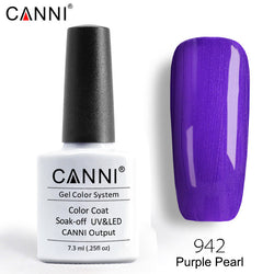 942 – CANNI Premium Nail Gel Polish Colour Pearl Purple