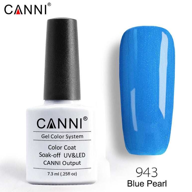 943 – CANNI Premium Nail Gel Polish Colour Pearl Blue