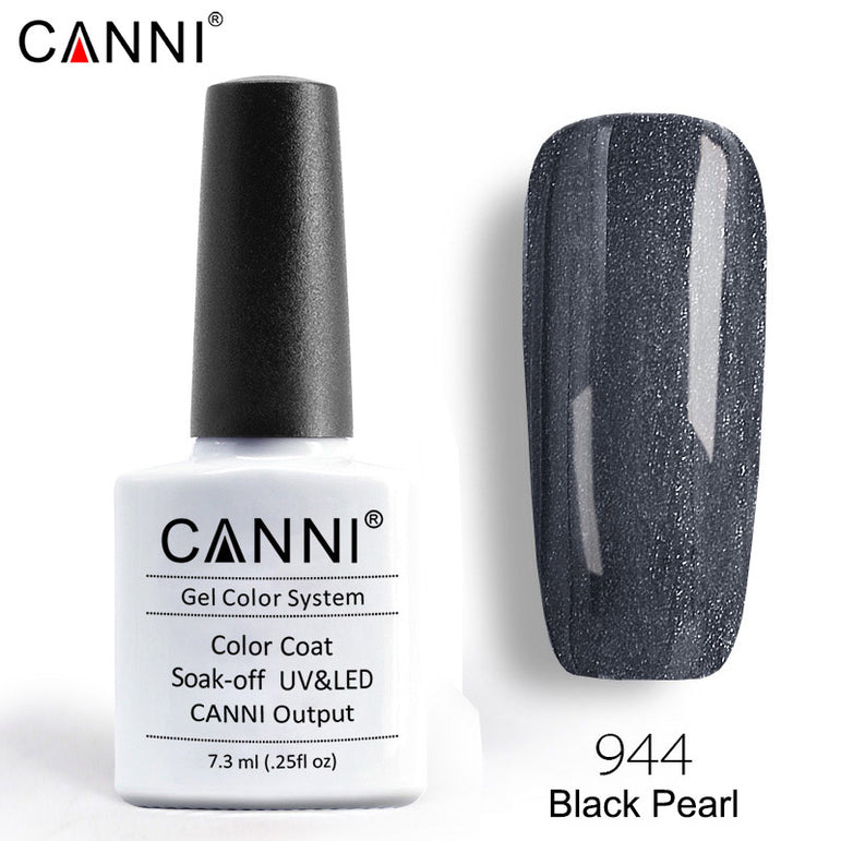 944 – CANNI Premium Nail Gel Polish Colour Pearl Black