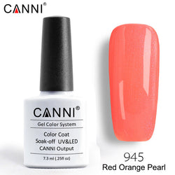 945 – CANNI Premium Nail Gel Polish Colour Pearl Red Orange